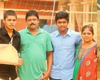 Sanju Samson with His Family