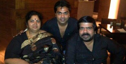 Silambarasan With His Father And Mother