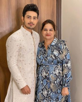 Sunny Chopra With His Mother