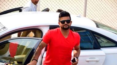 Suresh Raina With His Car