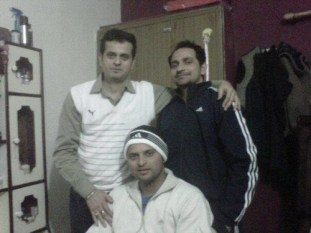 Suresh Raina With His Brother