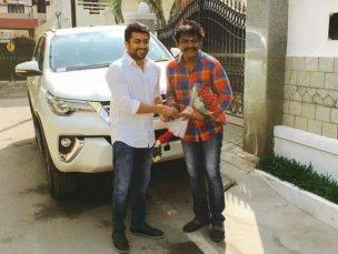 Suriya With His Car