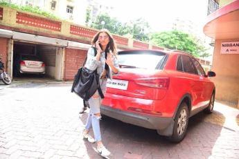 Tara Sutaria With Her Car