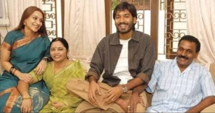 Dhanush And his Father Mother and his wife