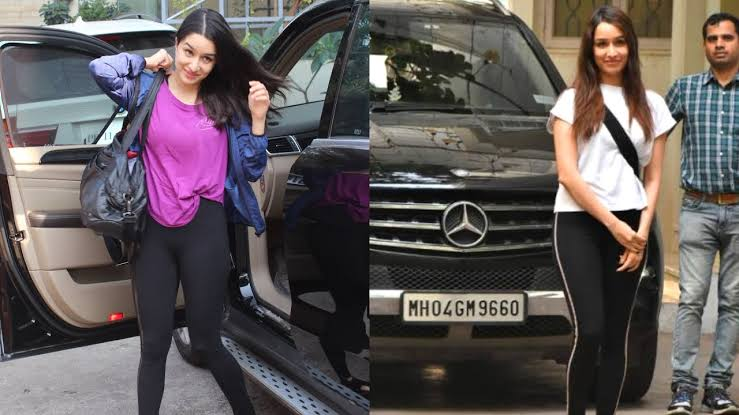 Shraddha Kapoor With Her Mercedes ML SUV