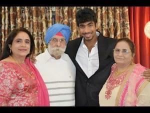 Jasprit Bumrah With Family