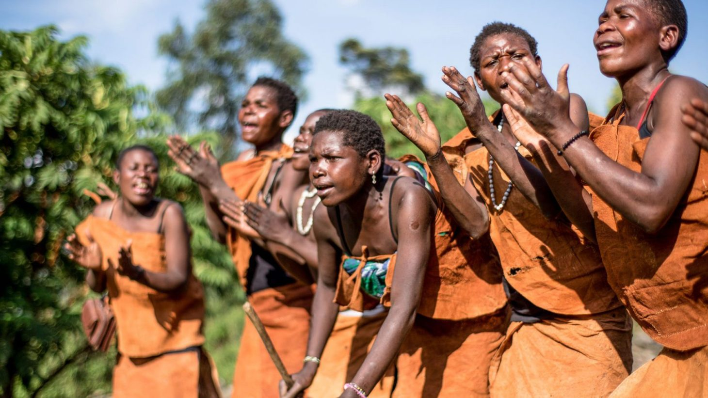 The Batwa entertaining guests