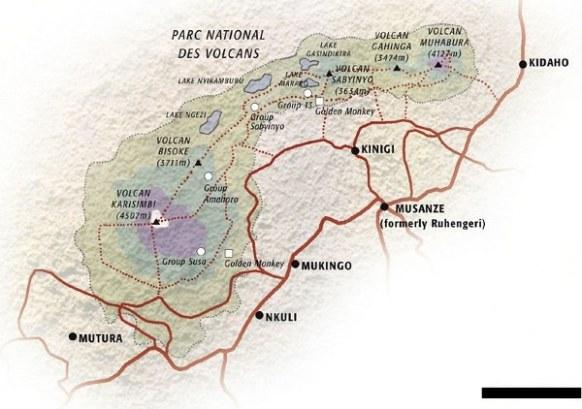 Volcanoes National Park Map