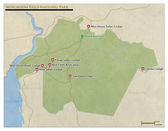 murchison falls national park map