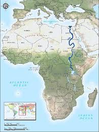 map showing uganda's river nile