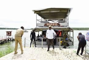 President Museveni on a uganda safari tour