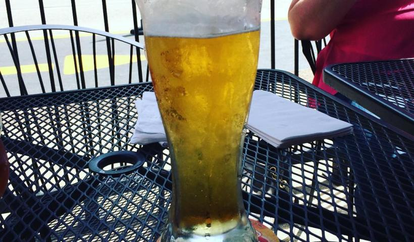 Patio Drinking Miller Lite