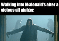 Walking Into McDonalds