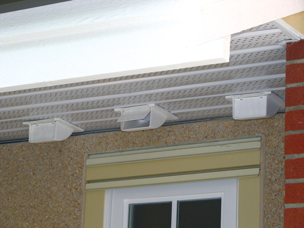right vent cap for a soffit