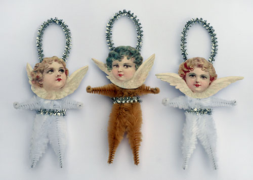 victorian style angel ornaments