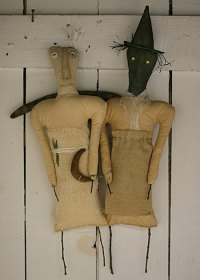 Primitive Folk Art Sisters  Primitive Folk Art by Old ...