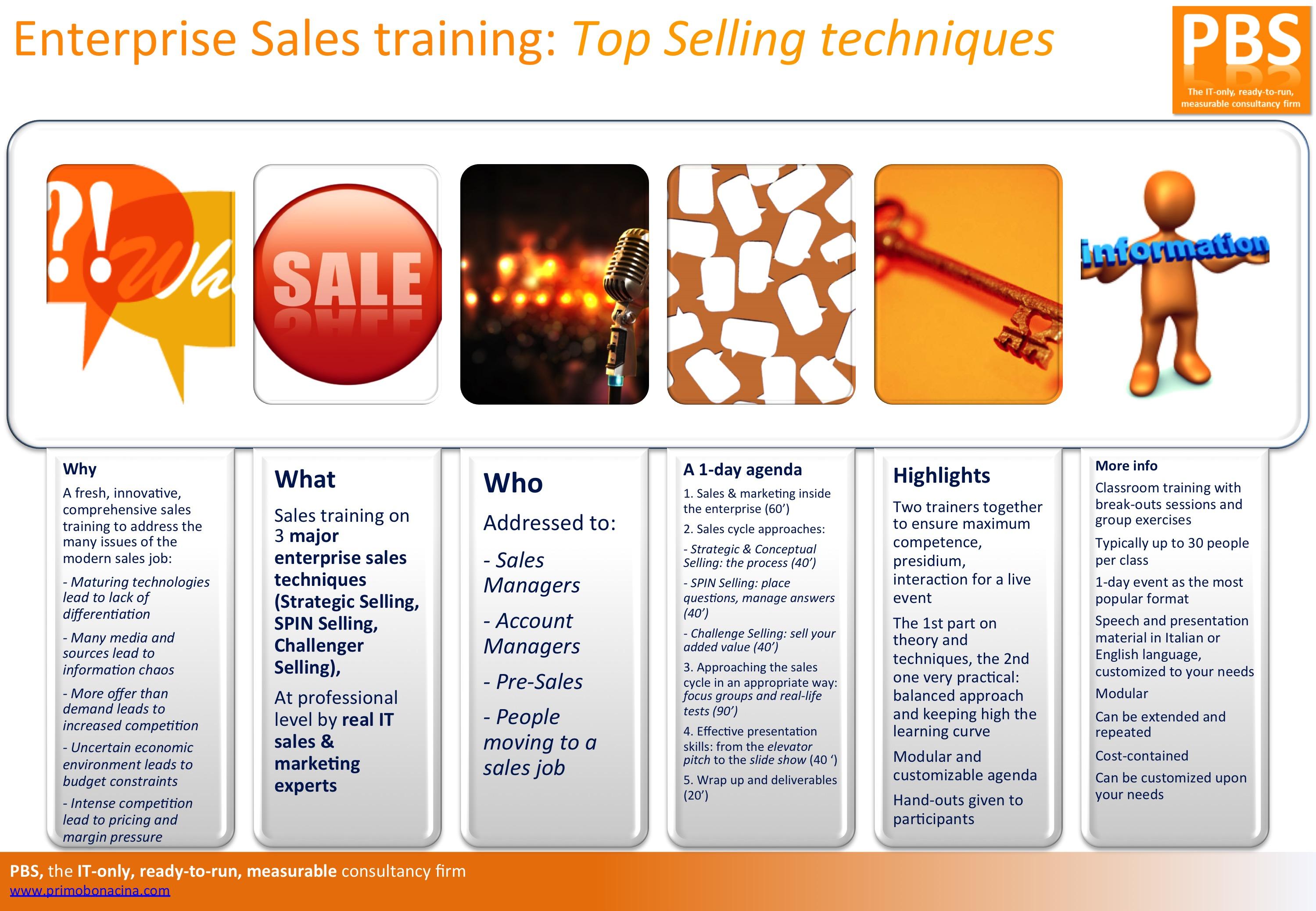 Training: B2B Sales - PBS - Primo Bonacina Services