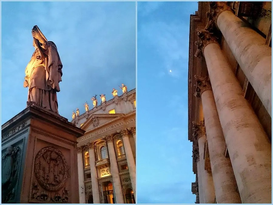 Watykan, Rzym, Włochy, sierpień we włoszech, wakacje we Włoszech, ferragosto, wschód słońca, Plac Św. Marka