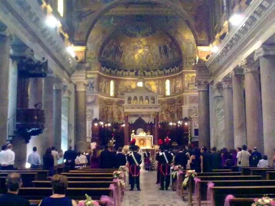 Św. Antoni, Basilica Santa Maria in Trastevere, ślub w Rzymie, ślub we Włoszech, jak wygląda ślub w Rzymie