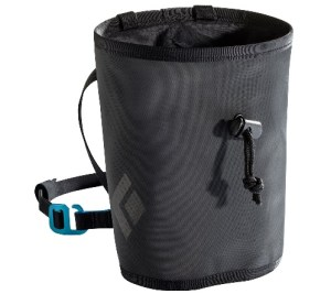 Image of a black chalk bag used for climbing, Image by Primo Chalk