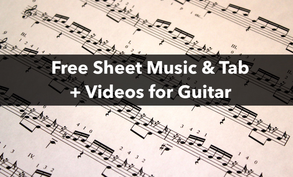 Free Sheet Music and Tab for Classical Guitar