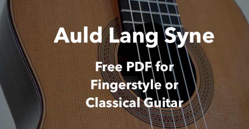 Auld Lang Syne - Free Sheet Music or Tab for Guitar