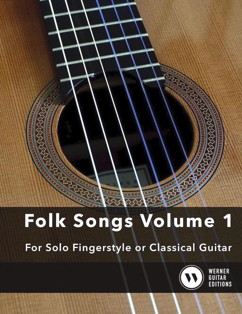 Easy Folk Songs Volume 1 for Fingerstyle or Classical Guitar