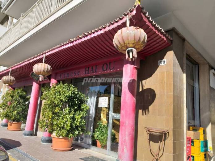 Chinese restaurants and shops