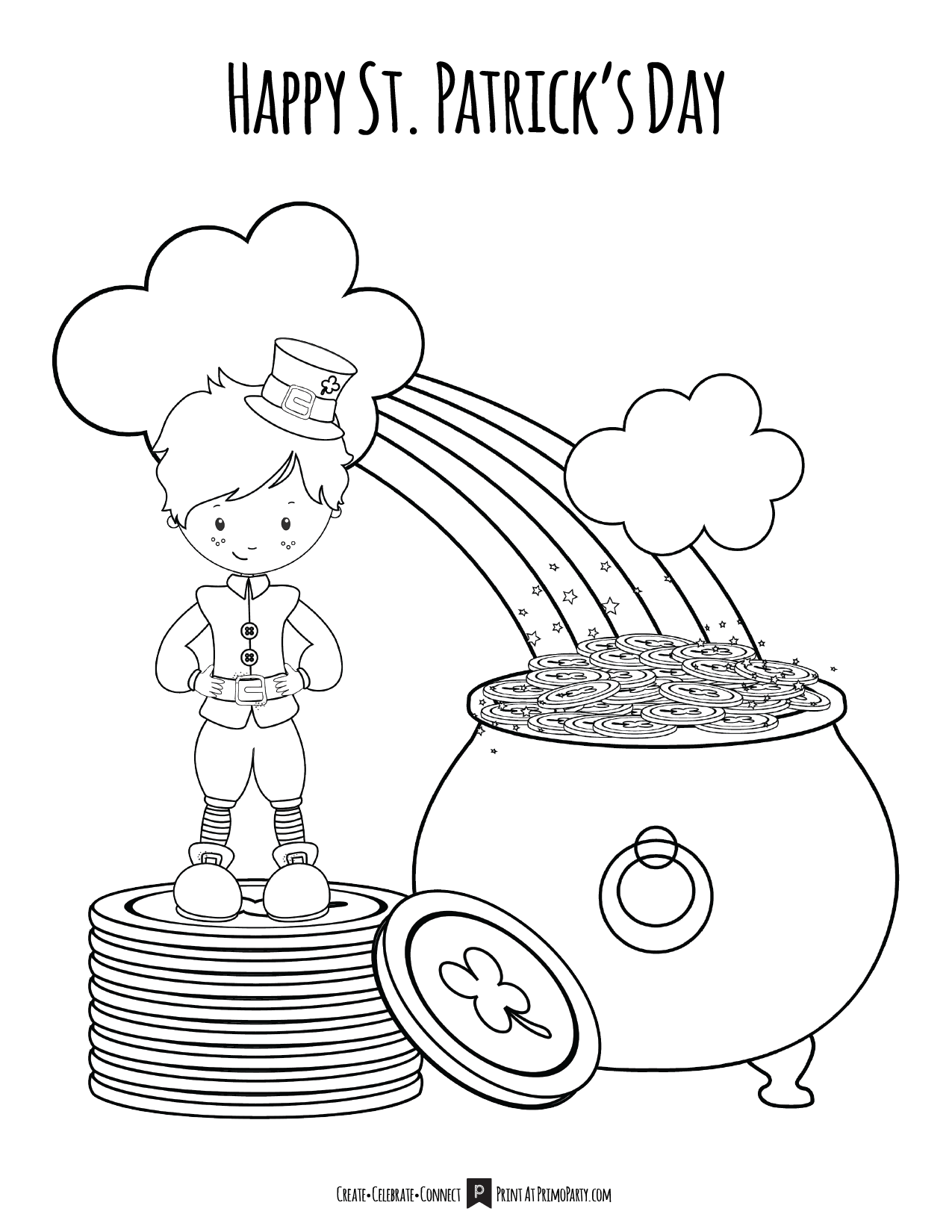 Lucky Boy St Patrick S Day Coloring Page Primoparty
