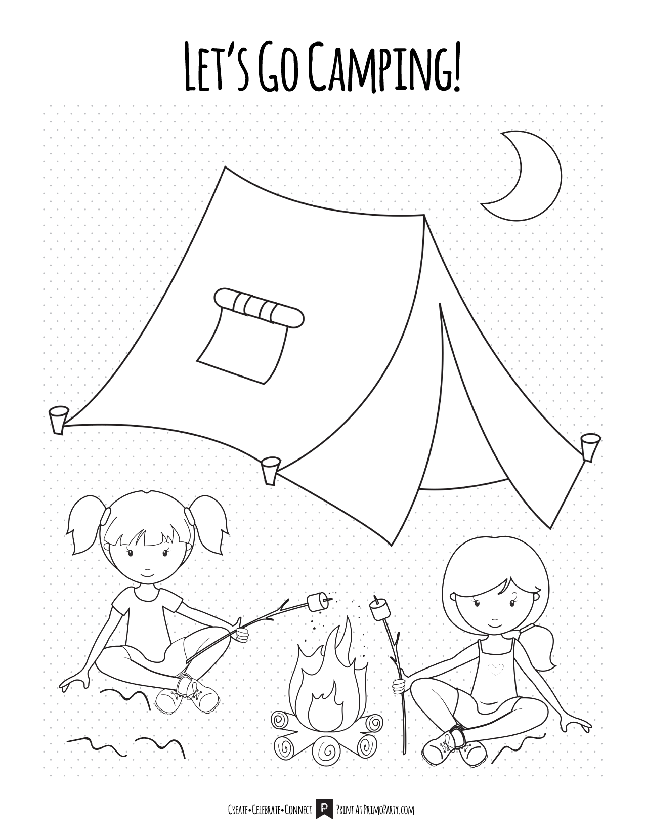 Camping Girls Coloring Pages