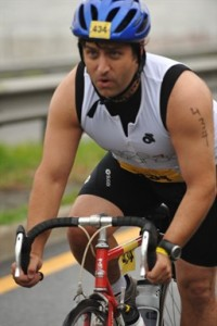Nick on his bike