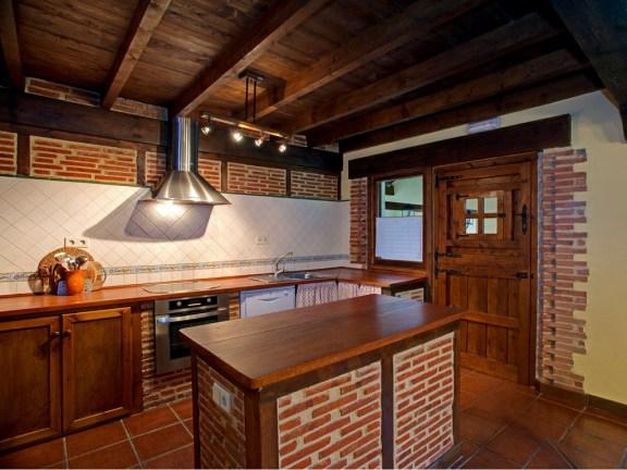 Voll ausgestatet Küche in Ferienhaus für 10 Personen