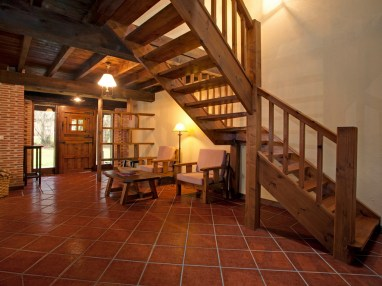 Stairs of the holiday house for 10 people in Llanes