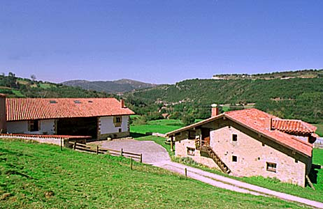 Big holiday houses in a farm in north of Spain