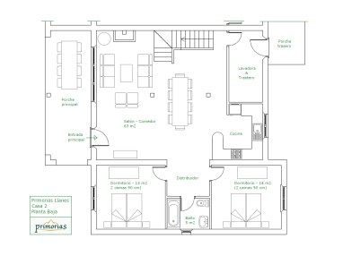 holiday house in Llanes, plans