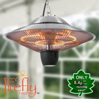 1.5kW Hanging Ceiling Halogen Bulb Electric Infrared Patio ...