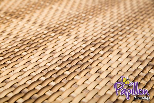 brise vue rotin artificiel tisse 2 couleurs de sable pour clotures 1m x 1m par papillon