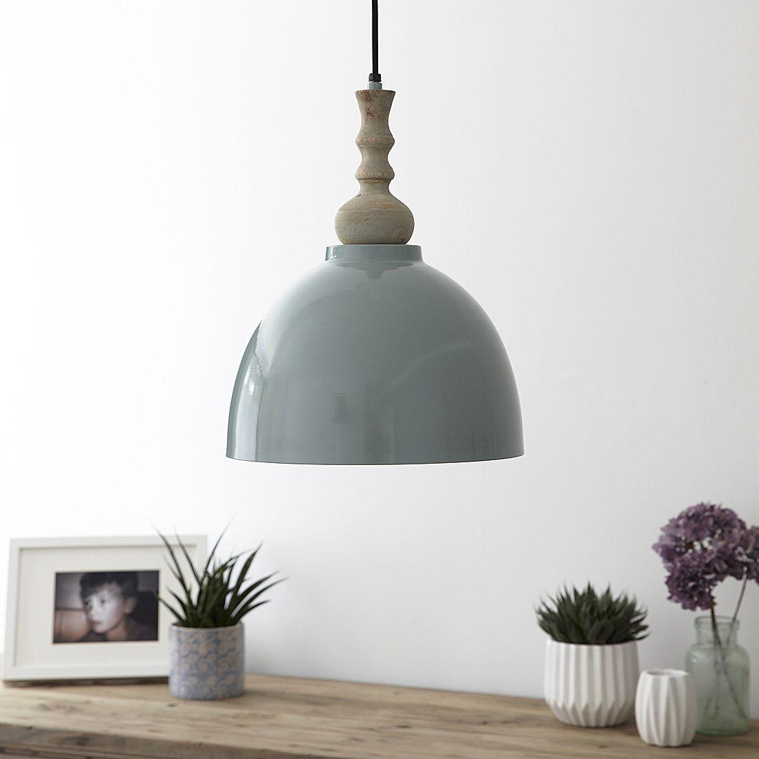 retro metal garden chairs chair bed uk duck egg pendant light with wooden top – primrose & plum
