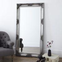 Decorative Pewter Floor Standing Mirror  Primrose & Plum