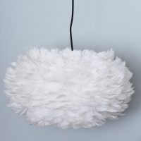 White Goose Feather Pendant Lampshade  Primrose & Plum