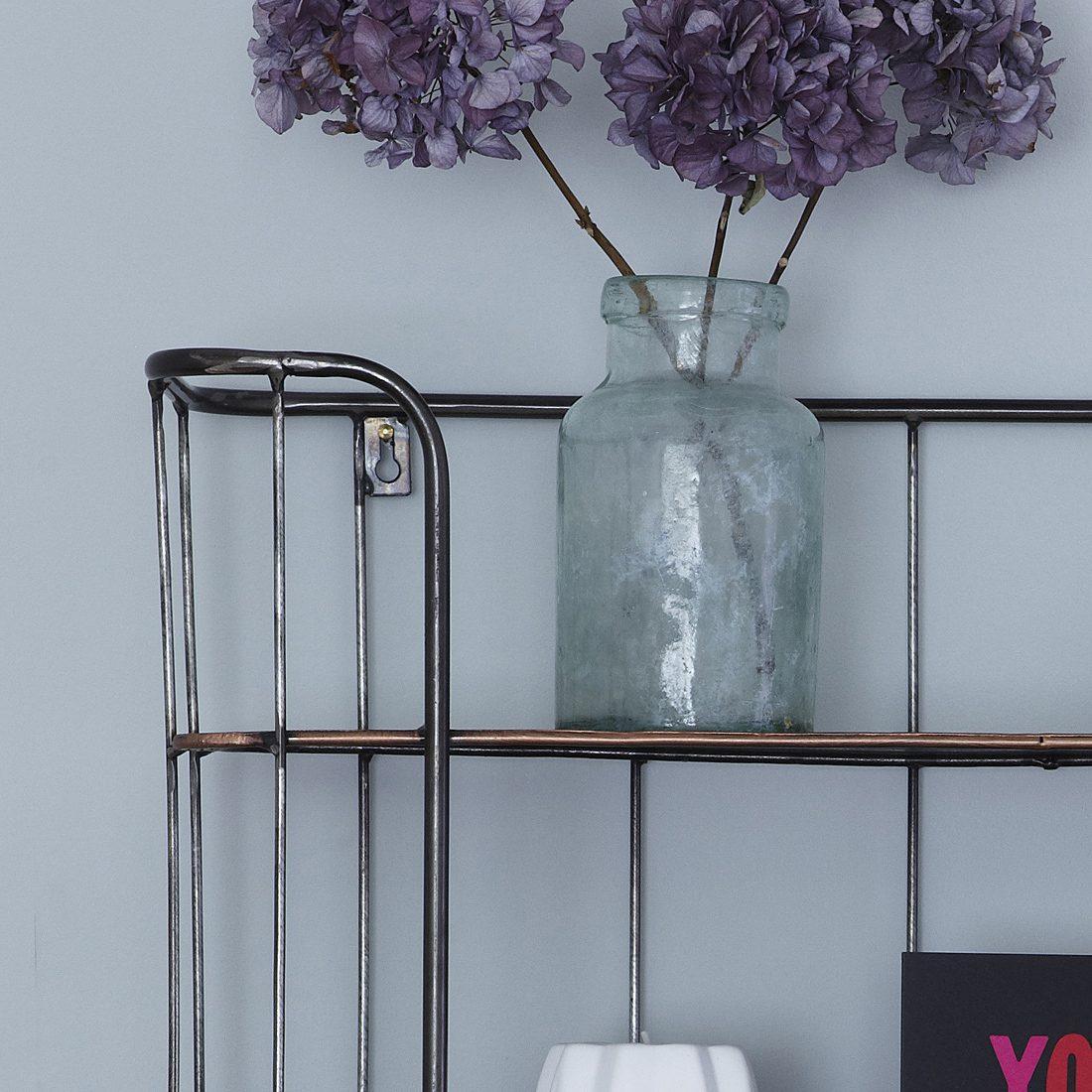 ThreeShelf Industrial Shelf Unit with Hanging Hooks