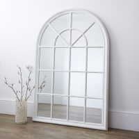 White Arched Window Wall Mirror  Primrose & Plum