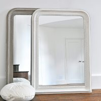 Beaded Wall Mirror  Grey & White  Primrose & Plum