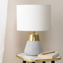Ivory Dining Chairs Uk Lazy Boy Sale Concrete & Gold Table Lamp – Primrose Plum