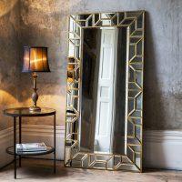 Gold Geometric Floor Standing Mirror | | Primrose & Plum
