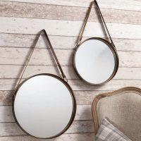 Set of Two Round Hanging Mirrors     Primrose & Plum
