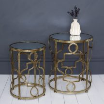 Gold Leaf Nesting Side Tables Primrose & Plum