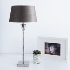 Unusual Shaped Sofas Uk Small L Outdoor Sofa Textured Silver Table Lamp With Velvet Shade | Primrose ...