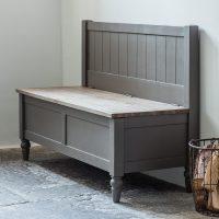 Storm Grey Wooden Storage Bench | | Primrose & Plum