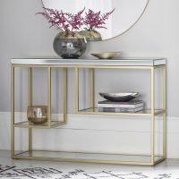 Champagne Gold Mirrored Console Table | | Primrose & Plum